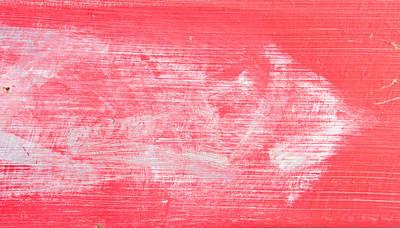 Red Wood Print by Tom Gowanlock