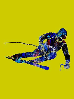 Ski Mixed Media - Skiing Collection by Marvin Blaine