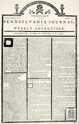 Stamp Act, 1765 Print by Granger
