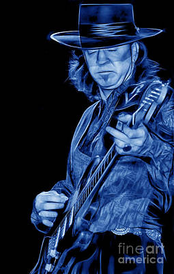 Poster Photograph - Stevie Ray Vaughan Collection by Marvin Blaine