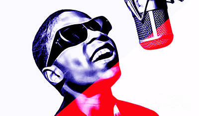 Musician Mixed Media - Stevie Wonder Collection by Marvin Blaine