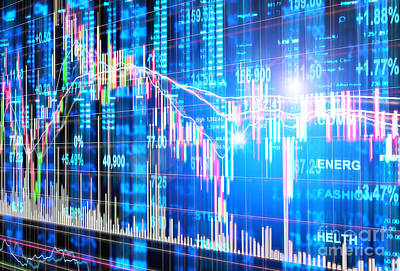 Analyze Digital Art - Stock Market Concept by Setsiri Silapasuwanchai