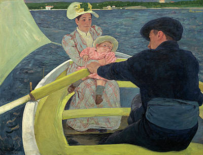 Row Painting - The Boating Party by Mary Cassatt