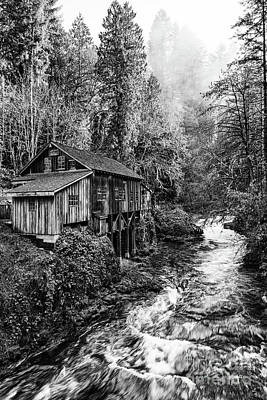 The Cedar Creek Grist Mill In Washington State. Print by Jamie Pham
