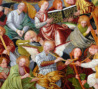 Cupola Painting - The Concert Of Angels by Gaudenzio Ferrari