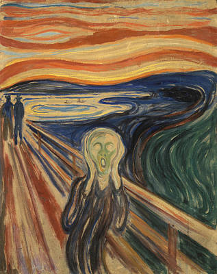 Screaming Painting - The Scream by Edvard Munch