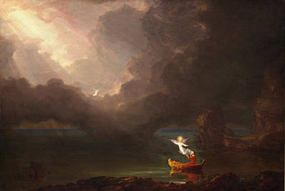 Cole Painting - The Voyage Of Life, Old Age by Thomas Cole
