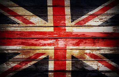 Union Jack Flag  Print by Les Cunliffe