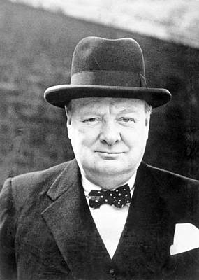 Lapel Photograph - Winston Churchill by English School