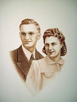 70 Years Together Print by Irina Sztukowski
