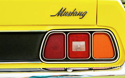 Photograph - 71 Yellow Mustang by Tim Gainey