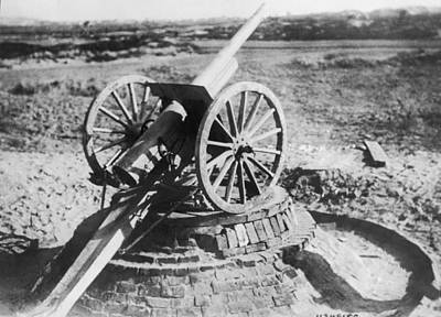 1916 Photograph - 75 Mm Anti-aircraft Gun by Underwood Archives