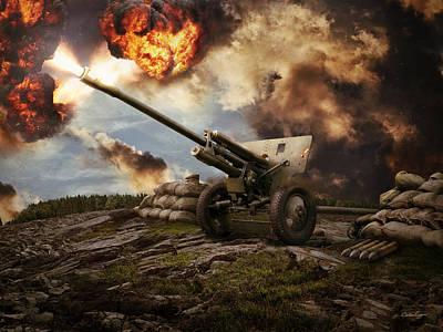 76 Mm Divisional Gun Wwii Artillery Print by Anton Egorov