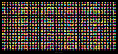 In A Row Digital Art -  768 Digits Of Pi Up To Feynman Point, E And Phi by Martin Krzywinski