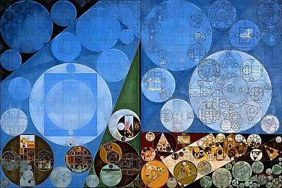 Abstract Painting - Nero Print by Vitaliy Gladkiy