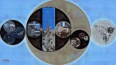 Circles Digital Art - Abstract Painting - Onyx by Vitaliy Gladkiy