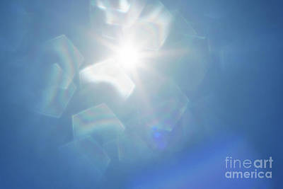 Bluesky Photograph - Abstract Sunlight by Atiketta Sangasaeng