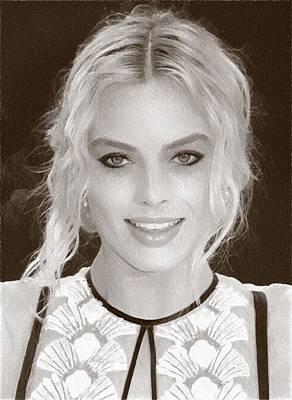 Orlando Bloom Digital Art - Actress Margot Robbie by Best Actors