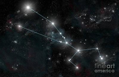 Zodiac Digital Art - Artists Depiction Of The Constellation by Marc Ward