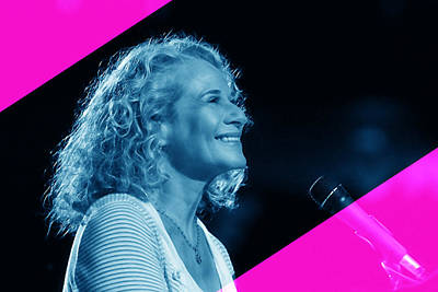 Carole King Collection Print by Marvin Blaine