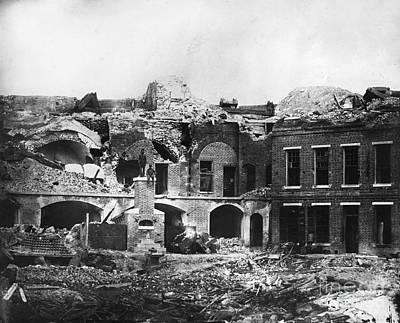 Barrack Photograph - Civil War: Fort Sumter by Granger
