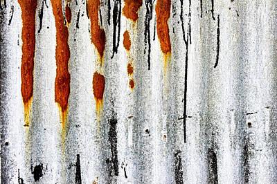 Hangar Photograph - Corrugated Metal by Tom Gowanlock