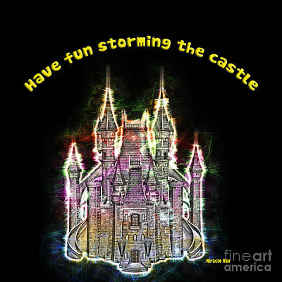 Fantasy Castle Print by Humorous Quotes