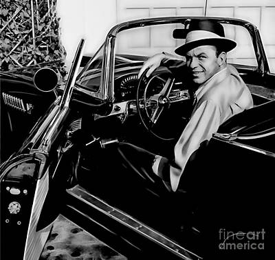 Frank Sinatra Collection Print by Marvin Blaine