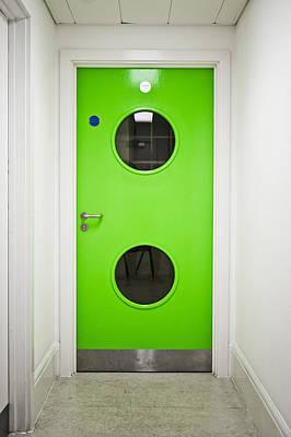 Lime Green Photograph - Green Door by Tom Gowanlock