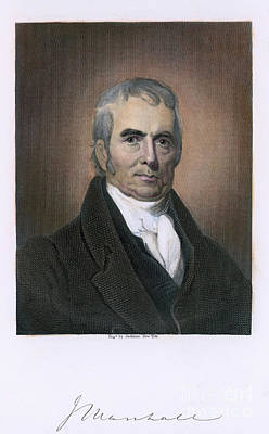 Chief Justice Photograph - John Marshall (1755-1835) by Granger