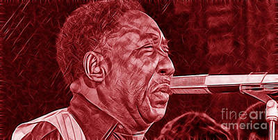 Musicians Mixed Media - Muddy Waters Collection by Marvin Blaine