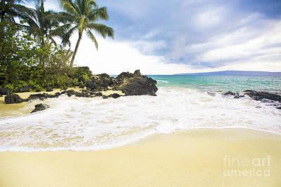 Paako Beach Makena Maui Hawaii Print by Sharon Mau