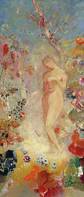Woman Painting - Pandora by Odilon Redon