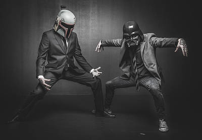 War Photograph - Star Wars Dressman by Marino Flovent