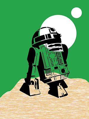 Star Mixed Media - Star Wars R2-d2 Collection by Marvin Blaine