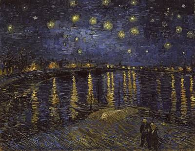 Starry Night Over The Rhone Print by Starry Night