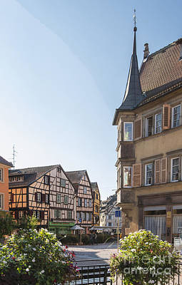 Vineyards Of Alsace Photograph - Streets Of Colmar by Yefim Bam