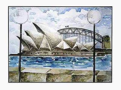 Wonders Of The World Painting - Sydney Opera House by Yelena Revis