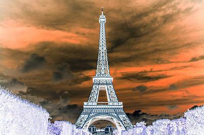 Lower Manhattan Pyrography - The Eiffel Tower by Artistic Panda