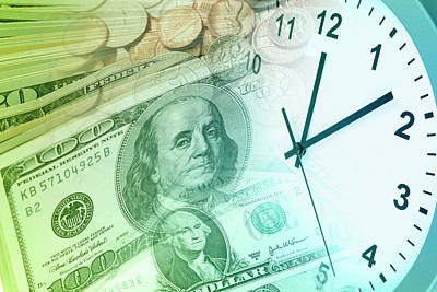 Business Digital Art - Time Is Money Concept by Les Cunliffe