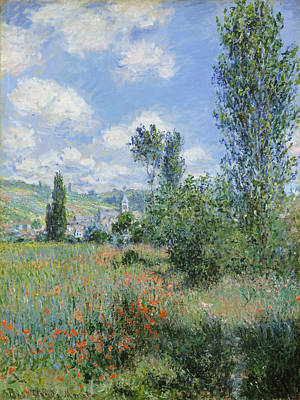 Tree Painting - View Of Vetheuil by Claude Monet