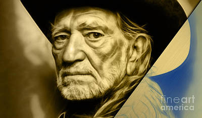 Country Music Mixed Media - Willie Nelson Collection by Marvin Blaine