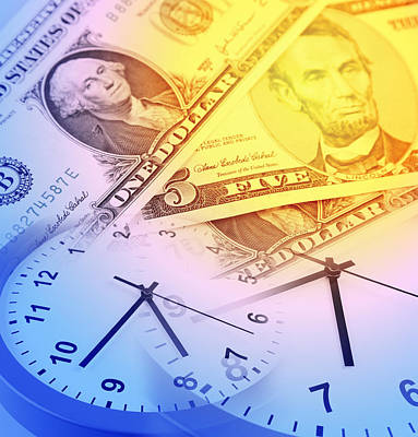 Numbers Digital Art - Time Is Money  by Les Cunliffe