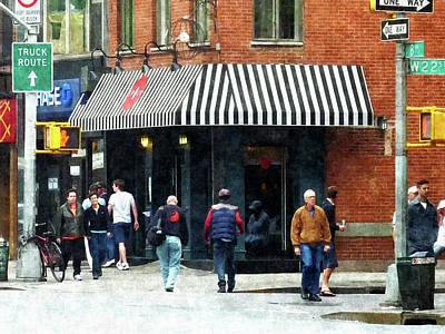 Stripe Photograph - 8th Ave. And W 22nd Street Chelsea by Susan Savad