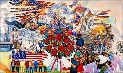 2001. World Trade Center Painting - 9/11 Memorial by Bonnie Siracusa