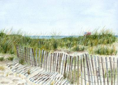 Long Sands Painting - 9-12-2001 by Sheryl Heatherly Hawkins