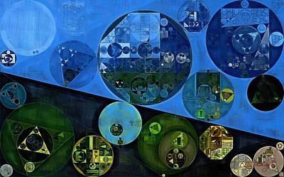 Feelings Digital Art - Abstract Painting - Dark Jungle Green by Vitaliy Gladkiy