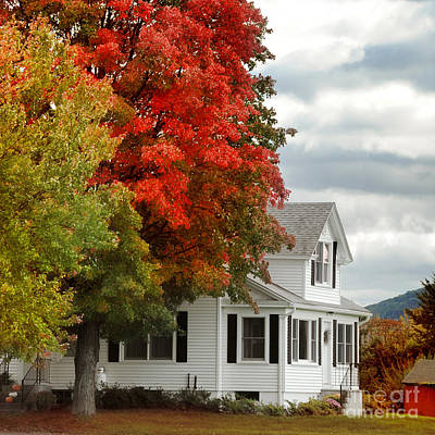 Farmhouse Photograph - Autumn Series by HD Connelly