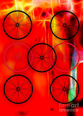Bikes Mixed Media - Bicycle Wheel Collection by Marvin Blaine
