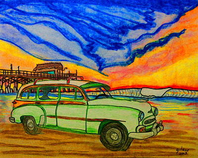 Beach Model Painting - Cocoa Beach Pier by W Gilroy
